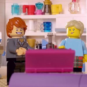 A Lego recreation of the BT advert as the world's first ad break made entirely from Lego is to be screened by ITV (Lego/PA)