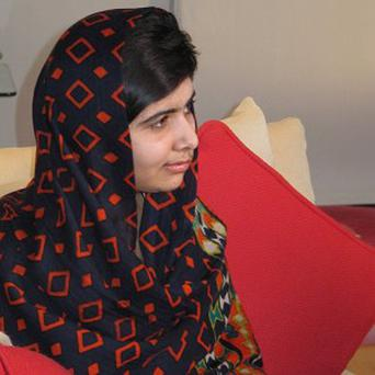 Malala Yousufzai escaped death by inches when she was shot by the Taliban (Queen Elizabeth Hospital Birmingham/PA)