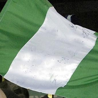 Nigerian fans show there support