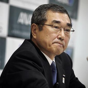 All Nippon Airways chief Shinichiro Ito speaks during a press conference at the company's office in Tokyo (AP)