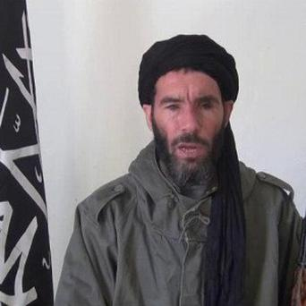 An image said to be miiltant militia leader Moktar Belmoktar, who has reportedly been killed in northern Mali by the army of Chad (AP)