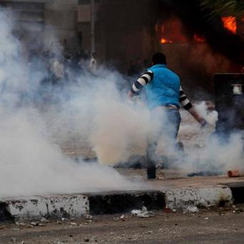 Police have used tear gas against protesters in the city of Port Said (AP)