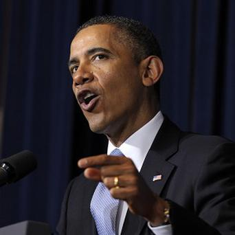 US President Barack Obama reportedly acknowledged that near-term prospects for Middle East peace are bleak (AP)
