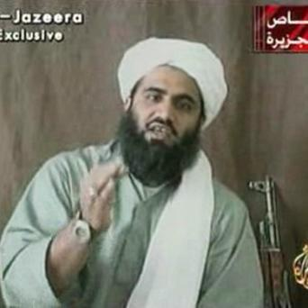 An image of Sulaiman Abu Ghaith, Osama bin Laden's son-in-law, who has denied terror charges at a court in New York (AP)
