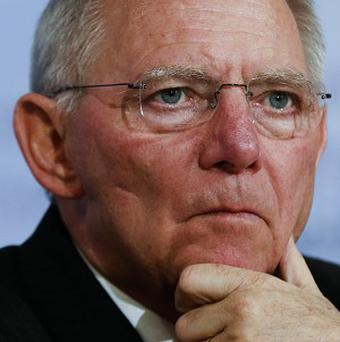 Warning: German finance minister Wolfgang Schaeuble