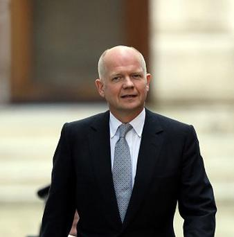 Foreign Secretary William Hague has expressed his disappointment over the blocking of a treaty that would have regulated the arms trade