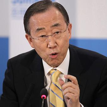 Ban Ki-moon is studying a message from North Korea saying the United Nations should consider evacuating its personnel from the country