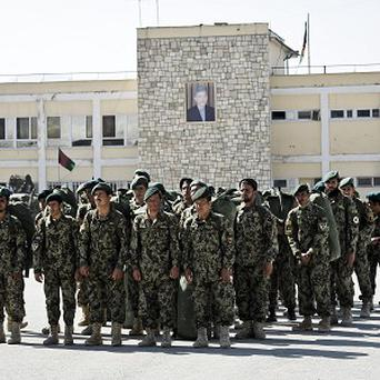 The Afghan National Army is increasingly involved in clearing improvised explosive devices