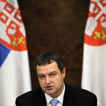 Serbian prime minister Ivica Dacic rejected a European Union-brokered deal for reconciliation with Kosovo (AP/Darko Vojinovic)