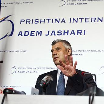 Kosovo Prime Minister Hashim Thaci failed to agree a deal with his Serbian counterpart Ivica Dacic (AP)