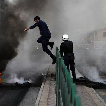 Violent protests against the government have been going on in Bahrain (AP)