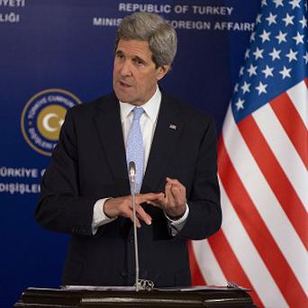 US Secretary of State John Kerry announced extra funding for the Syrian opposition AP)