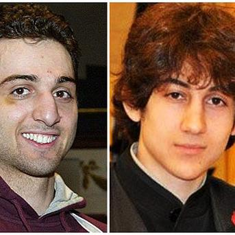 Boston bomb suspects Tamerlan Tsarnaev, left, and brother Dzhokhar Tsarnaev (AP/The Lowell Sun and Robin Young)