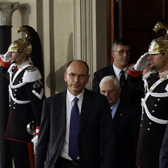 Enrico Letta has a hard task ahead of him as Italy's new prime minister (AP)