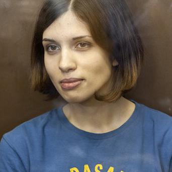 Pussy Riot member Nadezhda Tolokonnikova was arrested last March, and later convicted of hooliganism (AP)