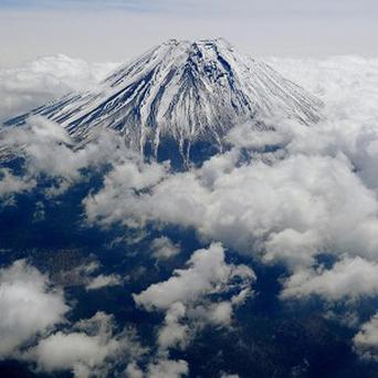 Mount Fuji would be Japan's 13th cultural World Heritage site (AP Photo/Kyodo News)