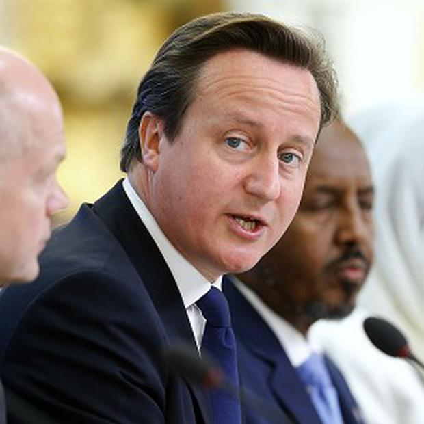 Prime Minister David Cameron and Somali President Hassan Sheikh Mohamud host talks in London