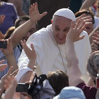 Pope Francis arrives at the Vatican (AP)