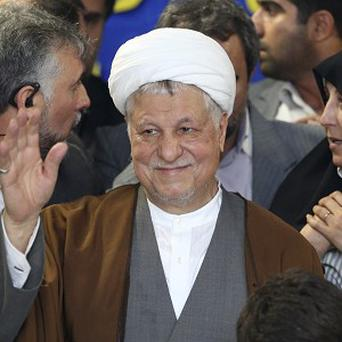 Former Iranian president Akbar Hashemi Rafsanjani is also banned from standing in the country's elections (AP)