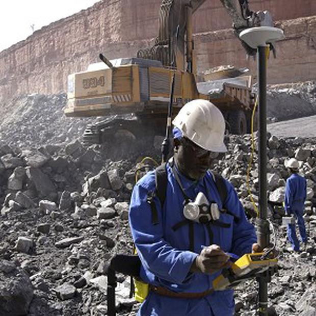Workers at the uranium mine of Arlit, where car bombers injured more than a dozen people (AP/AREVA/HO)