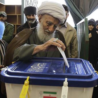 Iran's leaders have been criticised ahead of next month's presidential election (AP)