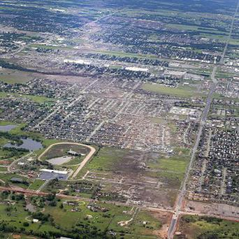 The remains of houses in Moore, Oklahoma, following the May 20 tornado (AP/Kim Johnson Flodin)