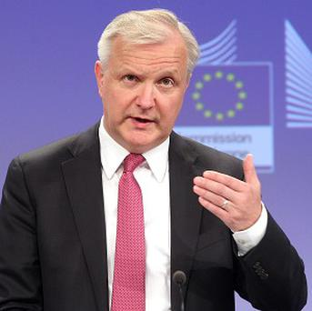 European Commissioner for Economic and Monetary Affairs Olli Rehn in Brussels (AP)