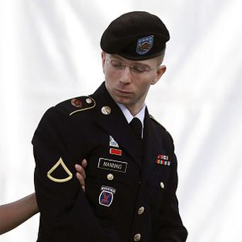 Bradley Manning on the third day of his court martial (AP)