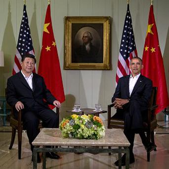 US president Barack Obama with Chinese counterpart Xi Jinping at the Annenberg Retreat at Sunnylands in Rancho Mirage, California