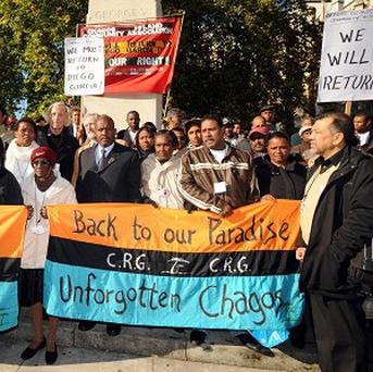 Supporters of the Chagos Islanders protested at Westminster in 2008 following a separate legal battle to let them return