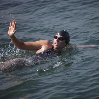 Australian swimmer Chloe McCardel was trying to become the first person to make the Straits of Florida crossing without a shark cage (AP)