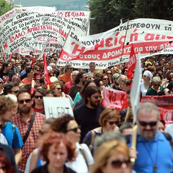 Greece's debt problems and austerity measures have sparked numerous protests (AP)