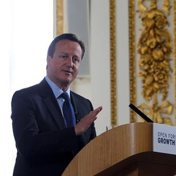 David Cameron said Britain would continue to offer non-lethal support to 'genuine' Syrian opposition