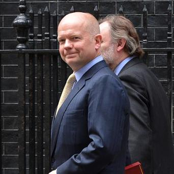 Foreign Secretary William Hague said moderates opposing Bashar Assad's regime in Syria must not be destroyed