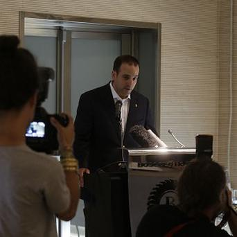 Michael Kobold told a Rome press conference that James Gandolfini's body may be flown back to the US on Monday (AP) , a family friend of actor James Gandolfini, holds a press conference at the Exedra Hotel in Rome, Sunday, June 23, 2013. Kobold told reporters Sunday that the
