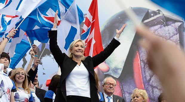 Mrs Le Pen said her first order of business on setting foot in the Elysee Palace will be to announce a referendum on EU membership,