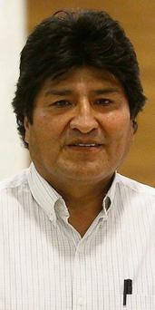 Bolivian President Evo Morales waits for his flight at the Vienna International Airport in Schwechat