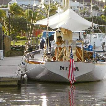 The missing American schooner Nina sent an undelivered text message saying its sails were shredded (AP/Maritime New Zealand)