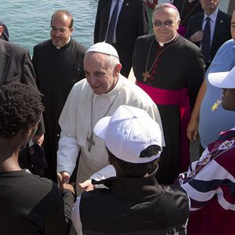 The pope on Lampedusa (AP