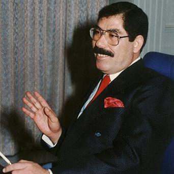 Saddam's half-brother Sabawi Ibrahim al-Hassan has died in hospital (AP)