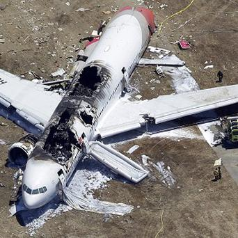 The scene of the Asiana Airlines crash in San Francisco (AP)