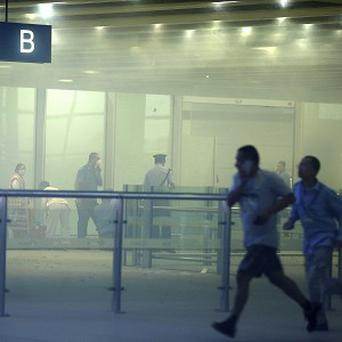 Chinese state media said that a man set off a homemade bomb in Terminal 3 of the Beijing International Airport (AP)