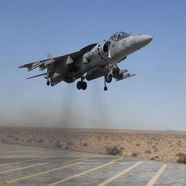 Two US AV-8B Harrier aircraft dropped four unarmed bombs in Australia's Great Barrier Reef Marine Park (AP/US Marine Corps, Cpl TM Stewman)