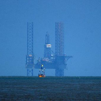 A rig has caught fire in the Gulf of Mexico