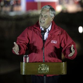Chile's President Sebastian Pinera has condemned the vandalising of the Metropolitan Cathedral of Santiago (AP)