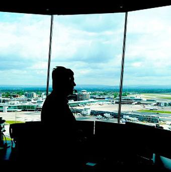 Air traffic controllers at San Francisco Airport are not allowing two foreign planes to land simultaneously