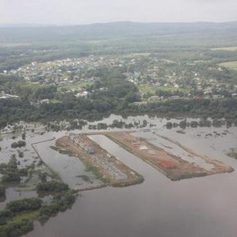 The flooded Amur River in the Khabarovsk region (AP)