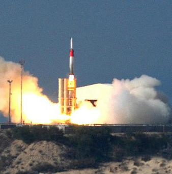 Israel says it has carried out a joint missile test with the US (AP)