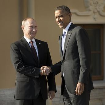 A much anticipated meeting between US president Barack Obama and Russian leader Vladimir Putin (AP)