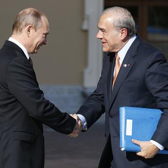 OECD chief Angel Gurria, right, says the G20 nations have agreed a tax crackdown on multinational companies (AP)